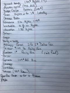 grocery-list